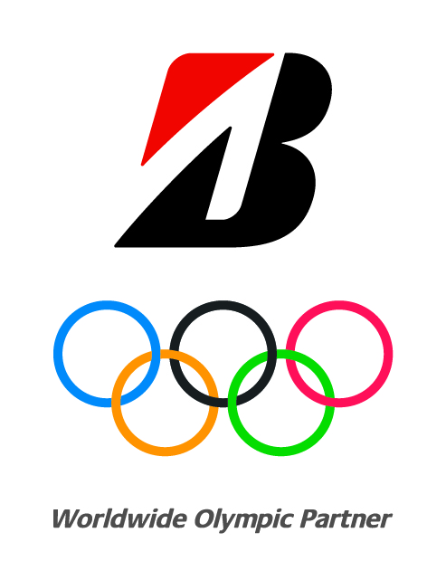 Bridgestone B Mark Olympic Vertical Logo
