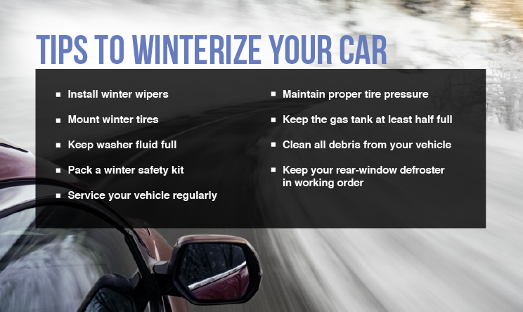 Tips to winterize your car